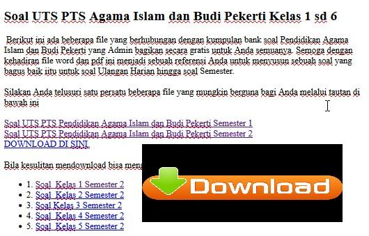 Soal Uts Pts Sd Agama Islam Dan Budi Pekerti Kelas 1 Sd 6 Guru Berbagi